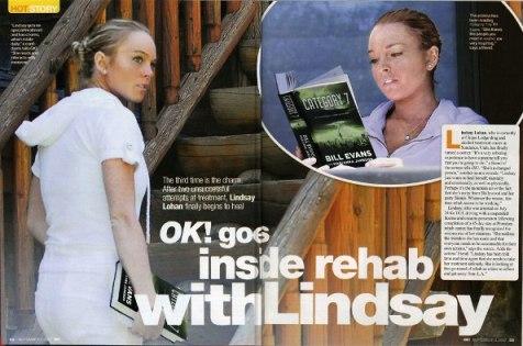 Lindsay Lohan Reading Category 7 in Rehab